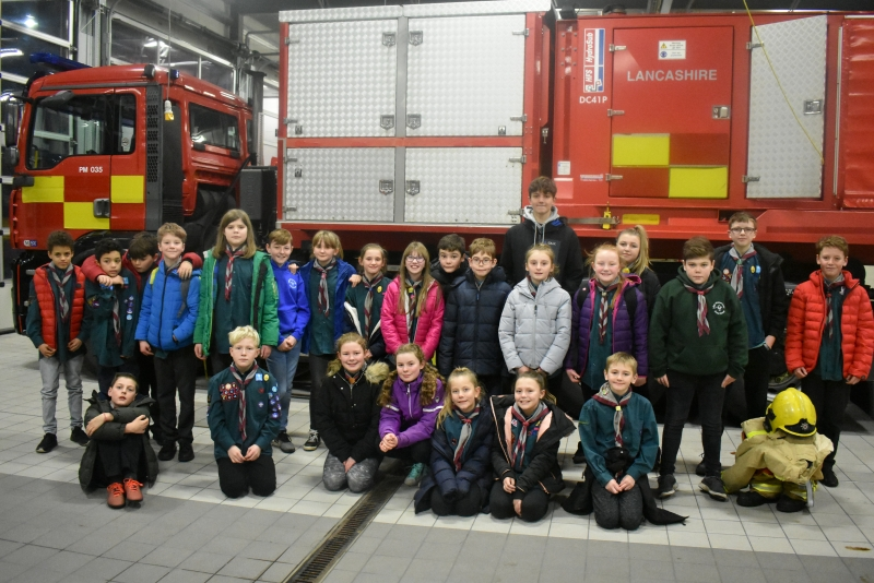 Red Troop Fire Station Visit