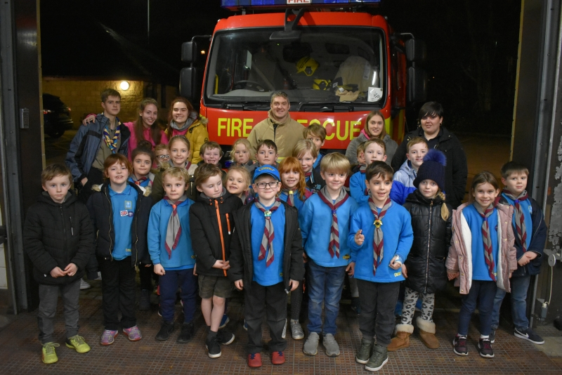 Purple Colony Fire Station Visit
