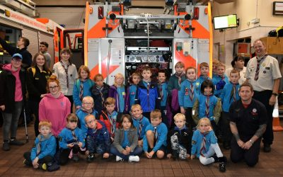 Grey Colony Fire Station Visit