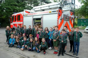 Purple Pack Fire Station Visit